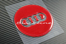 RED Carbon Fiber Steering Wheel Emblem Insert Decal For Audi A3 S3 TT Q7 S line