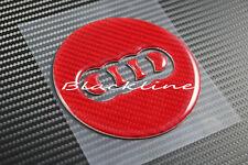 RED Carbon Fiber Steering Wheel Emblem Insert Decal For Audi A3 S3 TT Q7 S line