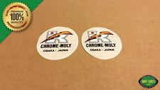 Kuwahara Chrome-Moly Lightning Bolt BMX Handlebar/Seat Post Decal - 1982 - 1985