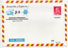 España Sobre entero Postal Aviación y Espacio Cadiz año 1989 (CZ-743)