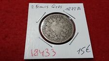 FRANCIA 2 TWO FRANCHI CERES - 1872A - OLD FRANCESE COIN - REF18433