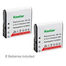 2x Kastar Battery for Casio NP-40 NP40 Kodak LB-060 AZ521 AZ361 AZ501 AZ522