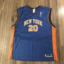 VTG 00s Reebok NBA New York Knicks Allen Houston Blue Away Basketball Jersey  XXL 4d363ea62