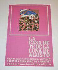 Cuban Theater Poster Art.Home or Room Decoration.La casa de te.The tea house.