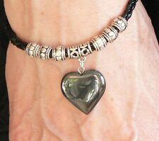 Hematite Heart Bracelet Gemstone Tibetan Silver Love Friendship Birthday Gift