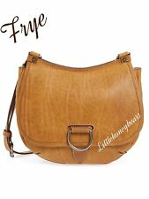 Frye Amy Oiled Vintage Leather Crossbody Saddle Bag Camel NWT $338 SEE Receipt