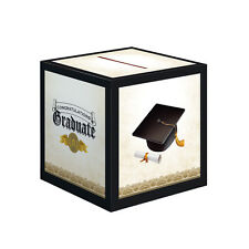 "Graduation Cap & Gown 12"" Card Box Party Supplies Tableware Decorations Décor"