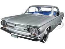 1963 CHEVROLET CORVAIR COUPE SATIN SILVER 1/18 DIECAST MODEL CAR BY SUNSTAR 1486