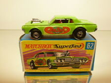 MATCHBOX SUPERFAST 62 MERCURY COUGAR RAT ROD - GREEN - VERY GOOD IN BOX