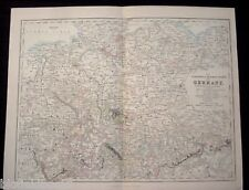 Original Antiquarian Map c1855 The Northern and Central States of Germany