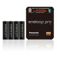 4 Batterie Stilo Sanyo Eneloop XX NERE Ricaricabili AA Size 2500mAH BK-3HDCE PRO