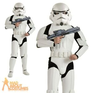 Mens Star Wars Stromtropper Deluxe Costume Licensed Adults Fancy Dress Outfit