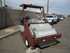 Power Boss Ride On Parking Lot Sweeper Gas Nice Condition