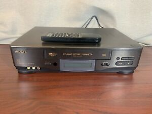 Hitachi VT-FX623A Video Cassette Player Recorder VCR Tested! With Remote!