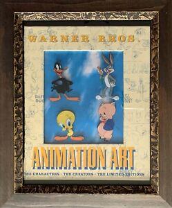 Warner Bros BUGS BUNNY TWEETY BIRD PORKY PIG Sericel Animation Art Framed Cel