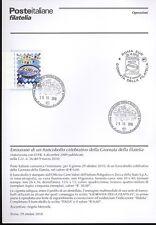 ITALIA 2010 GIORNATA FILATELIA  BOLLETTINO COMPLETO DI FRANCOBOLLI ANNULLO FDC
