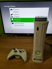 Microsoft Xbox 360 Console + Power Cable & Controller 2GB HDD (NO Battery Cover)