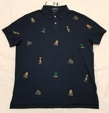Ralph Lauren Polo Bear Crest Collegiate Embroidered Shirt Sz. Large NWT