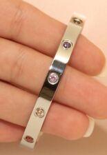 White Gold Finish 14KT 1CT Diamond Bangle Bracelet Women's Very Beautiful