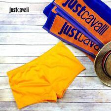Just Cavalli Men L / 52 Orange Square Cut Swim Shorts Stretch Beach Boxer Briefs