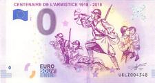 60 ORRY-LA-VILLE Centenaire de l'Armistice, 2018, Billet 0 € Souvenir