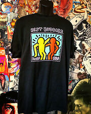 Vintage Keith Haring Best Buddies Black T Shirt  L Street Art Graffiti RIP 89