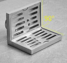 Corner Floor Drain Stainless Steel 304 Side Shower Drain Square Brushed Nickel