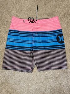 Hurley Men's Boardshorts Pink Blue Black Size 34