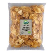 Organic Sun Dried Pineapple 1kg  - No Added Sugar - Certified Organic