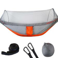 Portable Camping Hammock w/ Mosquito Net -210T Parachute Fabric Hanging Bed Tent