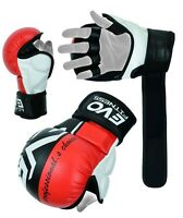 EVO MMA Sparring Gloves Boxing Combat Training Grappling Wrist Wrap Fighting UFC