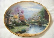 "Collector's Plate "" Lamplight Brooke"" By Thomas Kinkade Limited Edition"