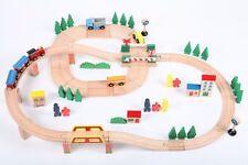 point-kids Holzeisenbahn Set 75 Teile Zug + Straße komplett Set Holz NEU