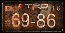 Retro Vintage Look TRD JDM CUSTOM ALUMINUM LICENSE PLATE