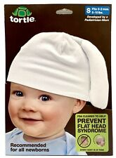 Tortle White Repositioning Beanie Corrective Hat for Flat Head S 0-2m