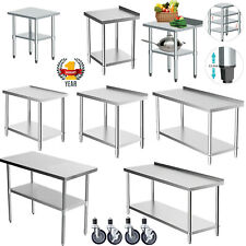 More details for westwood stainless steel commercial catering table work bench kitchen top prep