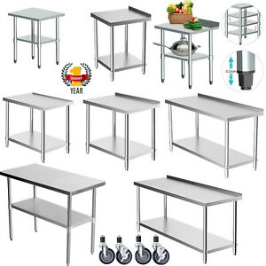 WestWood Stainless Steel Commercial Catering Table Work Bench Kitchen Top Prep