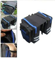 Large Bicycle Bike Cycling Frame Pannier Saddle Rear Tube Bag Double Side Pouch