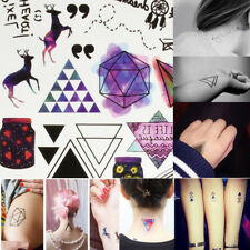 Geometric Temporary Tattoos Body Arm Leg Waterproof Flash Tattoo Stickers Sheet