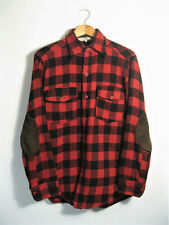 WOOLRICH | Men's Reto Red Lumberjack Check Thick Wool Overshirt Shirt Jacket | S