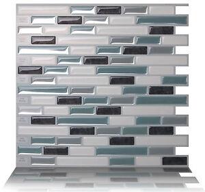 Tic Tac Tiles_3D Peel and Stick Wall Tile_Como Marrone(25cm x 25ccm x 5sheets)