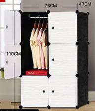 AU DIY 6 Cube Storage Cupboard Cabinet Wardrobe Shoe Rack Toy Book Shelf  White