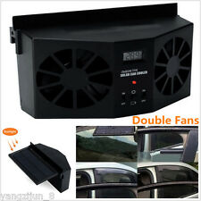 Black Solar Powered Auto Car Window Air Vent Ventilator Air Conditioner Cool Fan