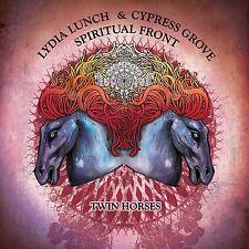 Lydia Lunch & Cypress Grove/spirito FRONT TWIN Horses LP BLUE VINYL 2014 Ltd