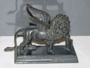 Antique Bronze Statue Winged Lion of St Mark