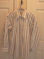 Sears & Roebuck Men's 16 32/33 Button Down Shirt Long Sleeve Striped 1 Pocket