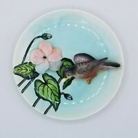 Vintage Lefton's Ceramics Hummingbird 3D Wall Plate Plaque 171 Made in Japan