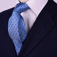 Vintage Blue Diamond Designer Tie Men's Fashion 7.5cm Necktie