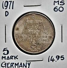 1971 D Germany 5 Mark