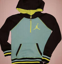 Nike Air Jordan Girls Varsity Half Zip Hoodie Jacket Size Med.